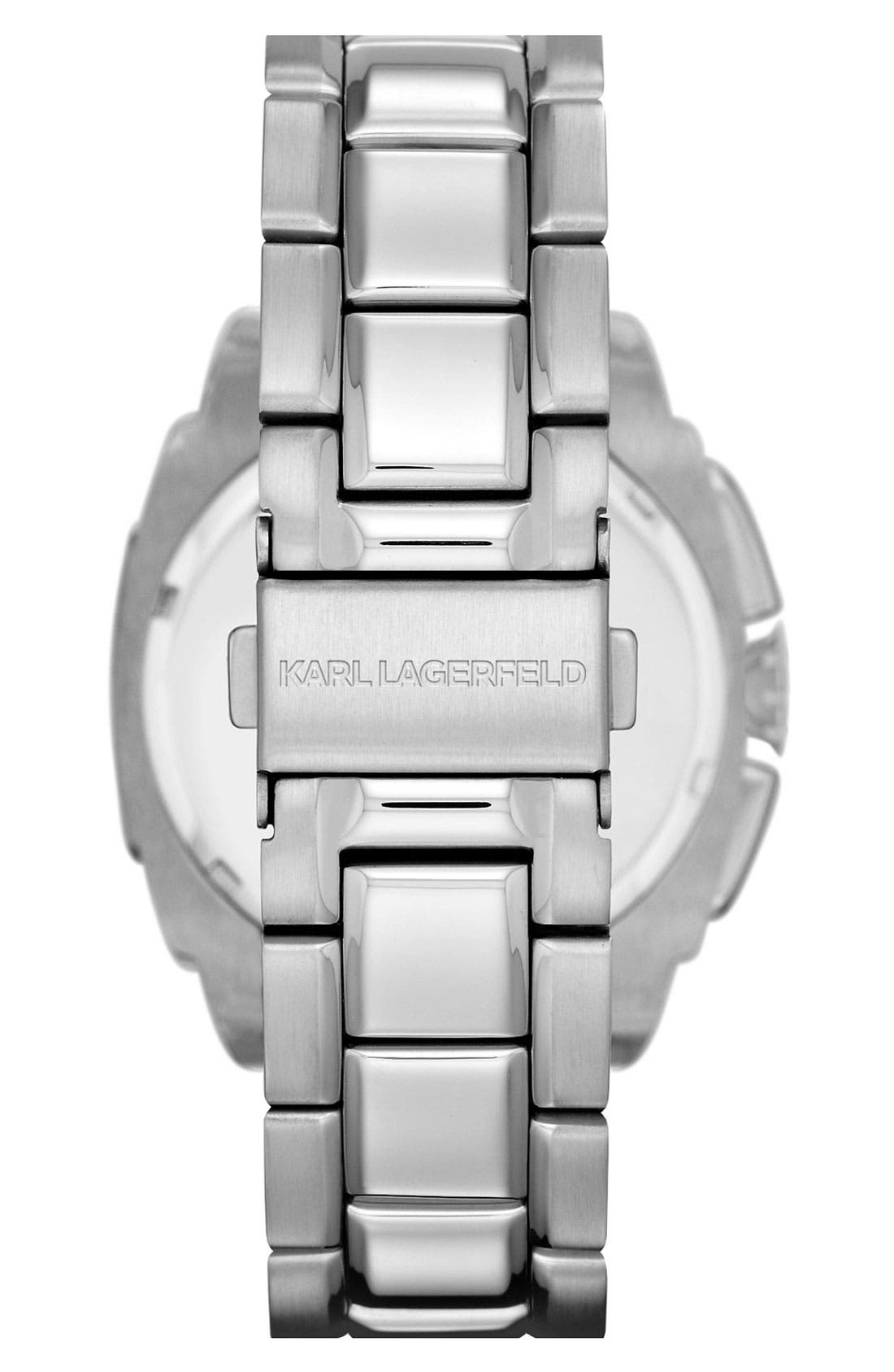 Alternate Image 3  - KARL LAGERFELD 'Keeper' Chronograph Bracelet Watch, 40mm