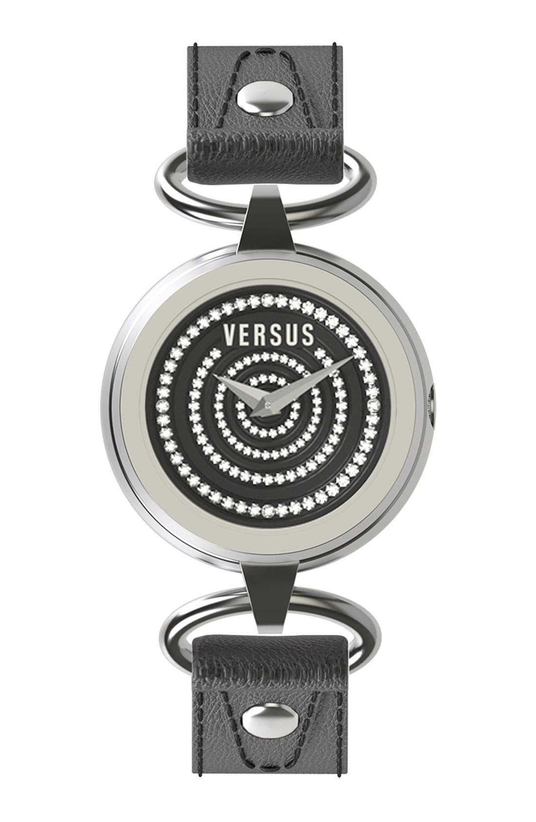 Alternate Image 1 Selected - VERSUS by Versace 'V by V' Crystal Dial Watch, 28mm