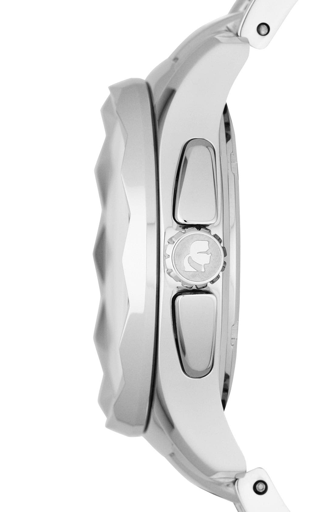 Alternate Image 3  - KARL LAGERFELD '7' Faceted Bezel Bracelet Watch, 36mm