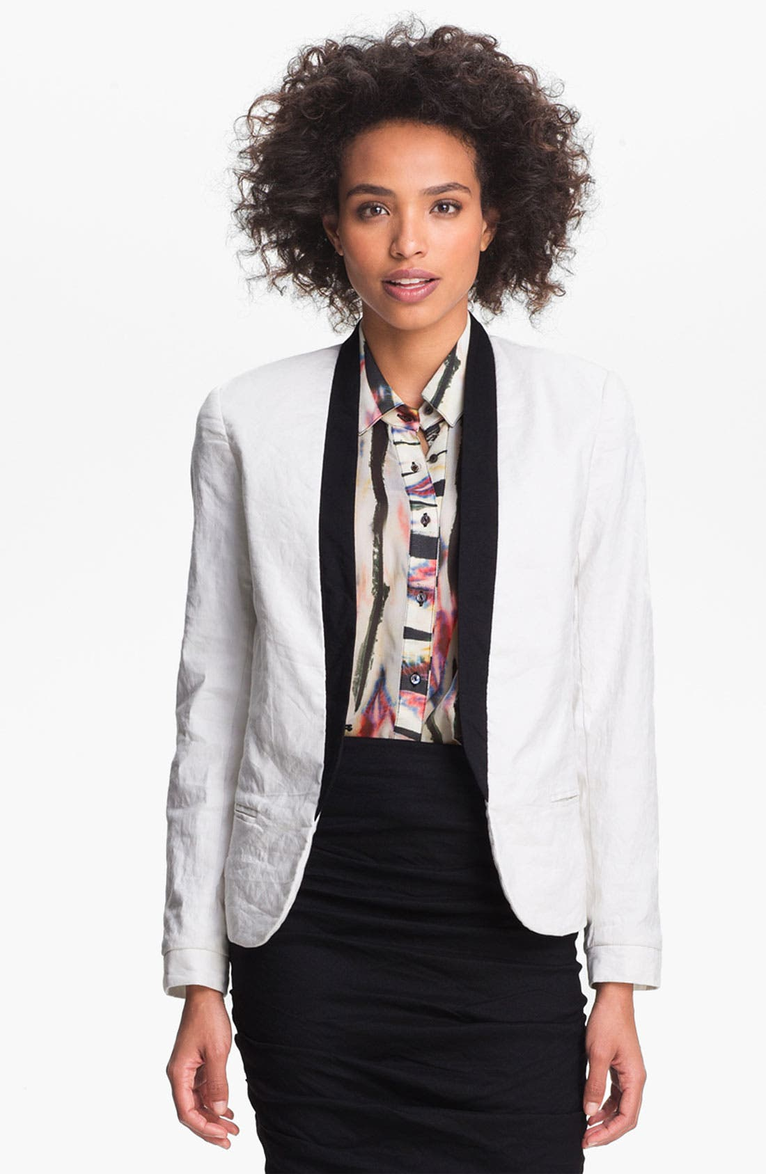 Alternate Image 1 Selected - Nicole Miller Crinkled Jacket