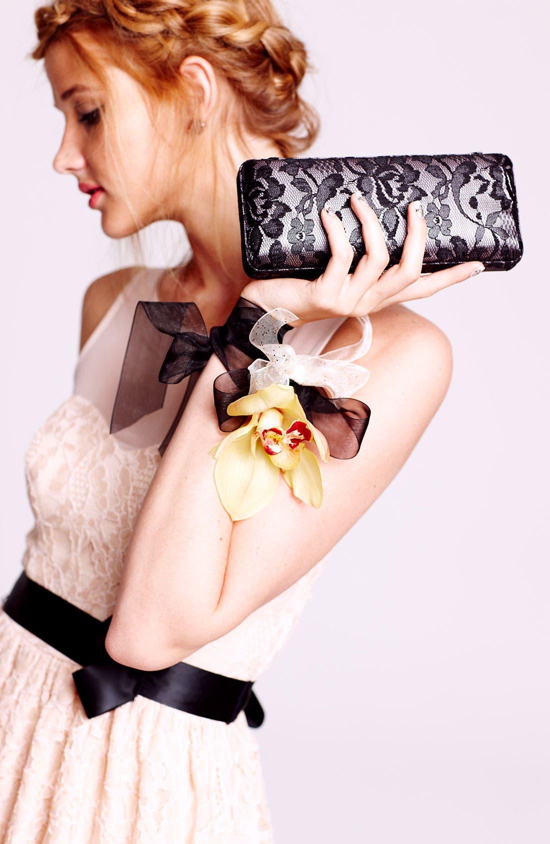 Alternate Image 5  - Glint Lace & Satin Minaudiere