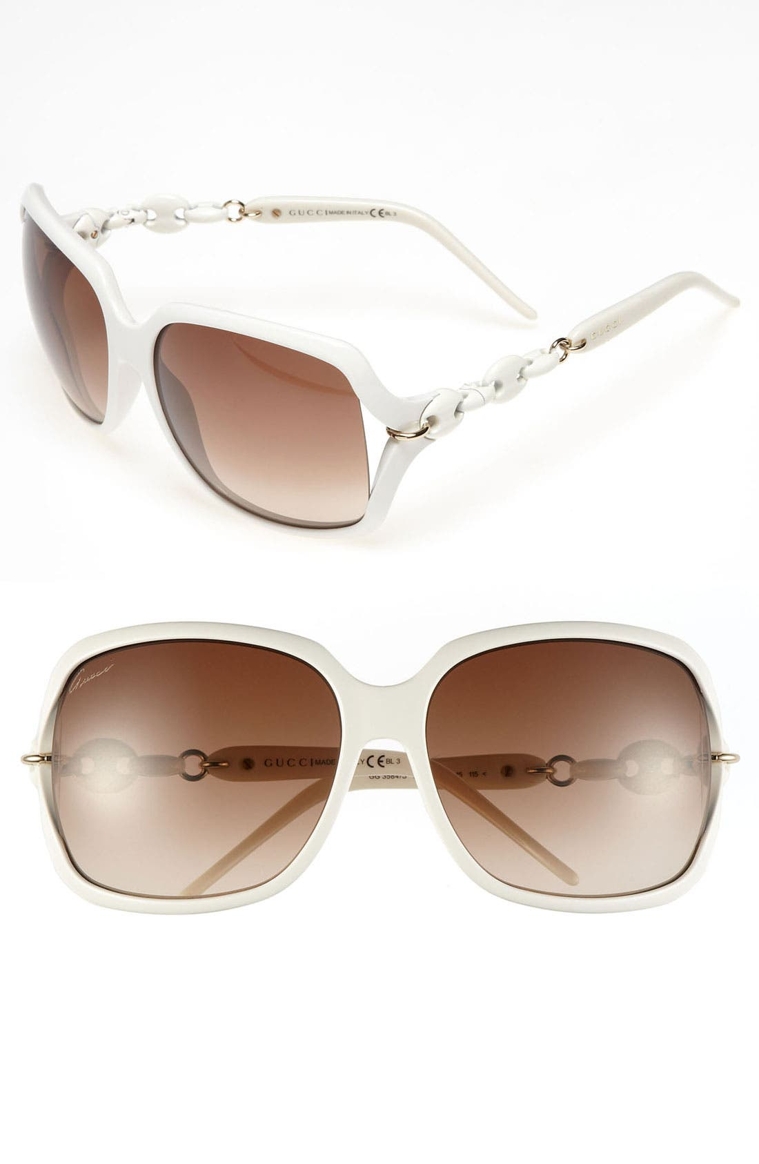 Alternate Image 1 Selected - Gucci 'Marina Chain' 59mm Oversized Sunglasses