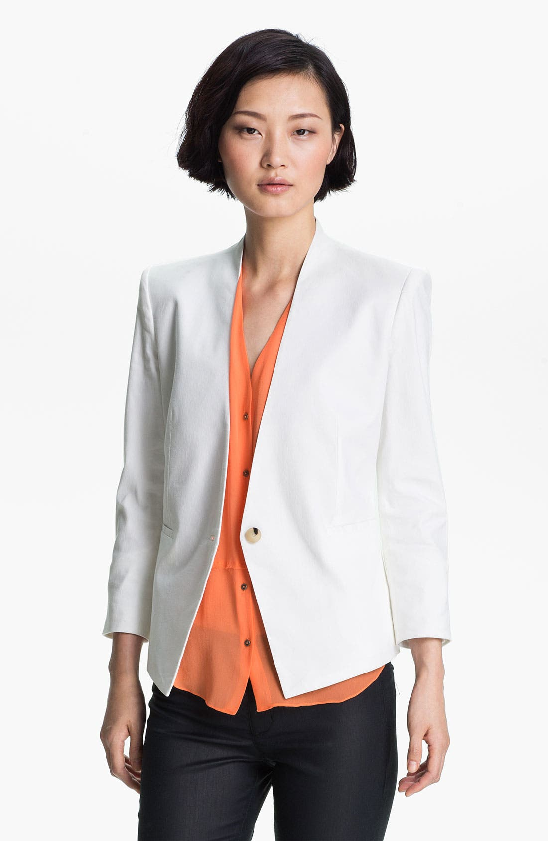 Alternate Image 1 Selected - HELMUT Helmut Lang Slub Twill Blazer