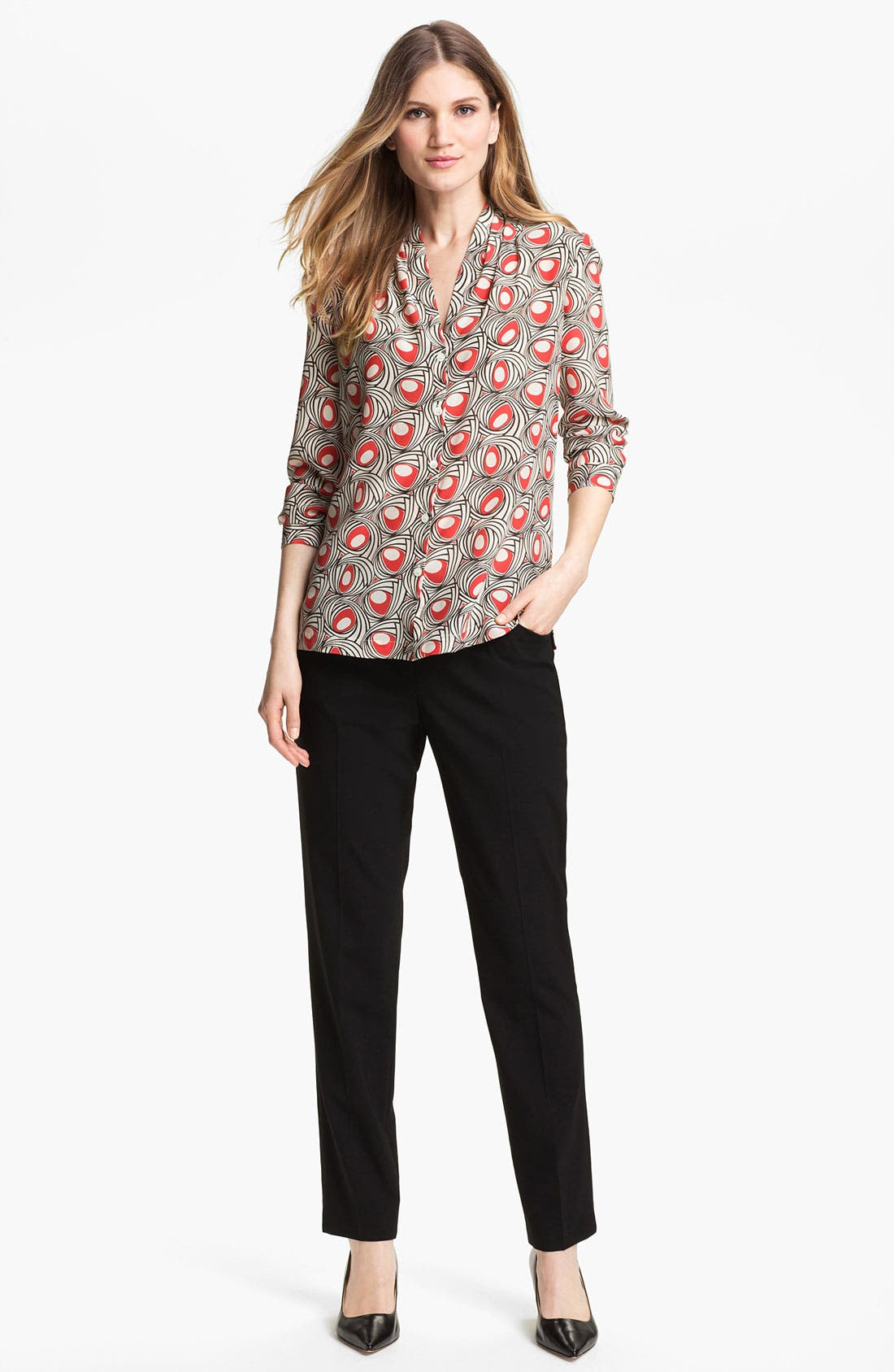 Alternate Image 4  - Lafayette 148 New York 'Niely - Marquee' Silk Blouse