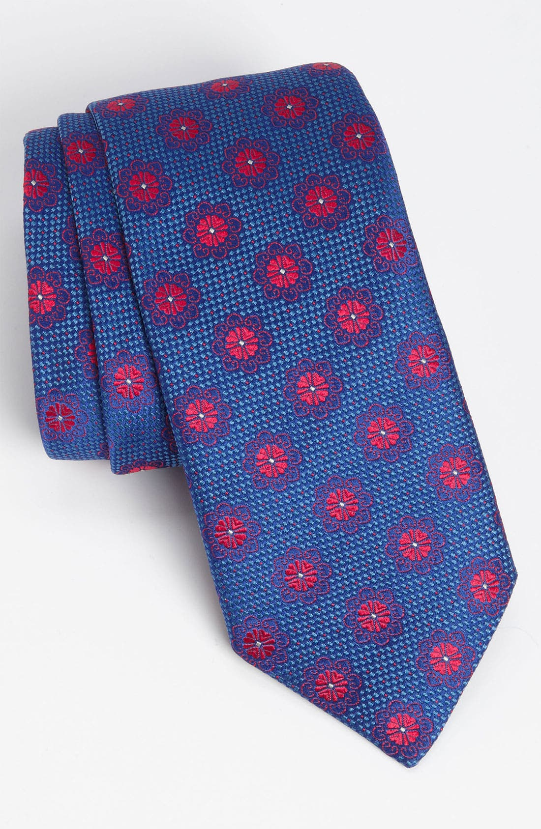 Main Image - Thomas Pink 'Morrell Flower' Woven Silk Tie