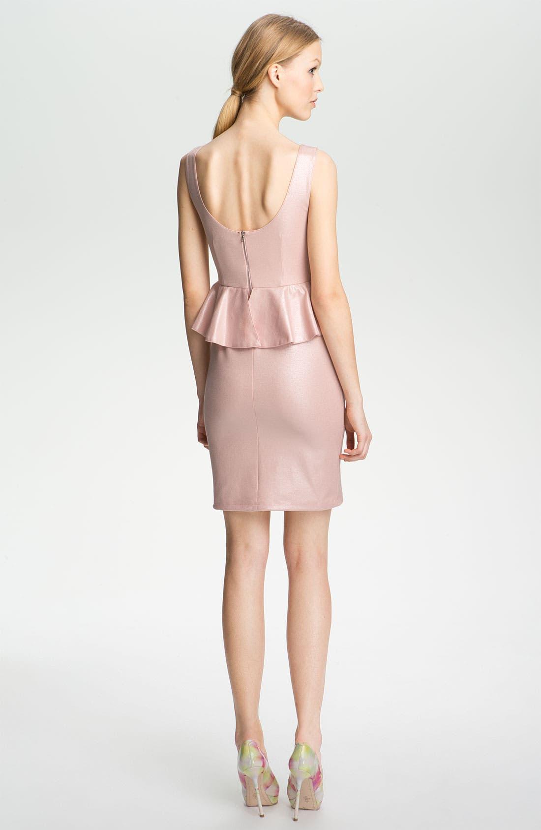 Alternate Image 2  - Alice + Olivia Peplum Dress