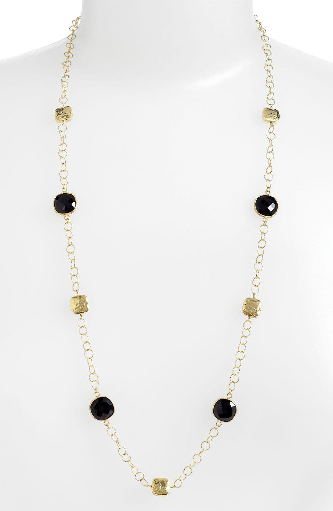 Main Image - Argento Vivo 'Bauble Bar' Long Square Station Necklace (Nordstrom Exclusive)