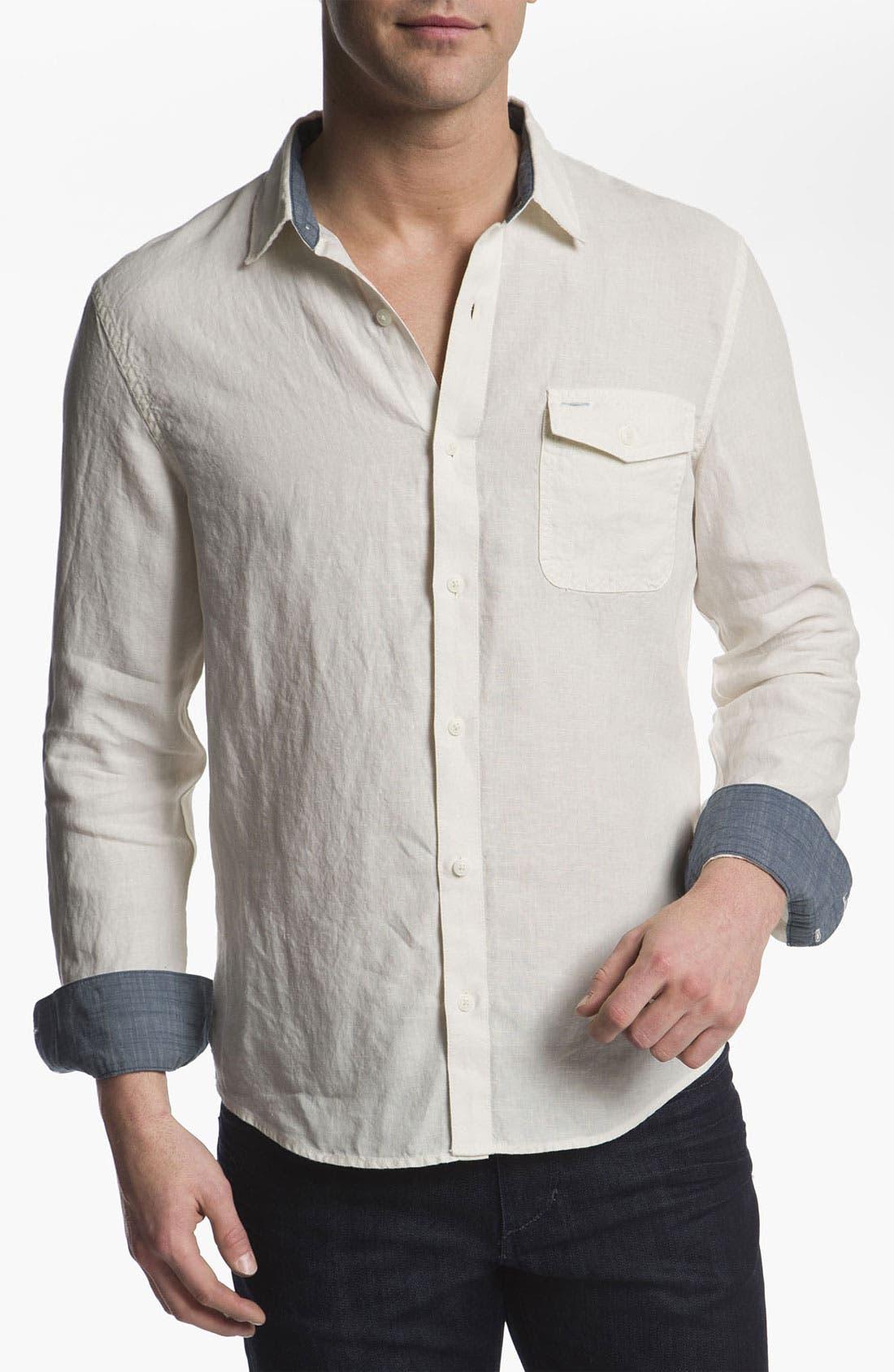 Main Image - 1901 Woven Linen Shirt