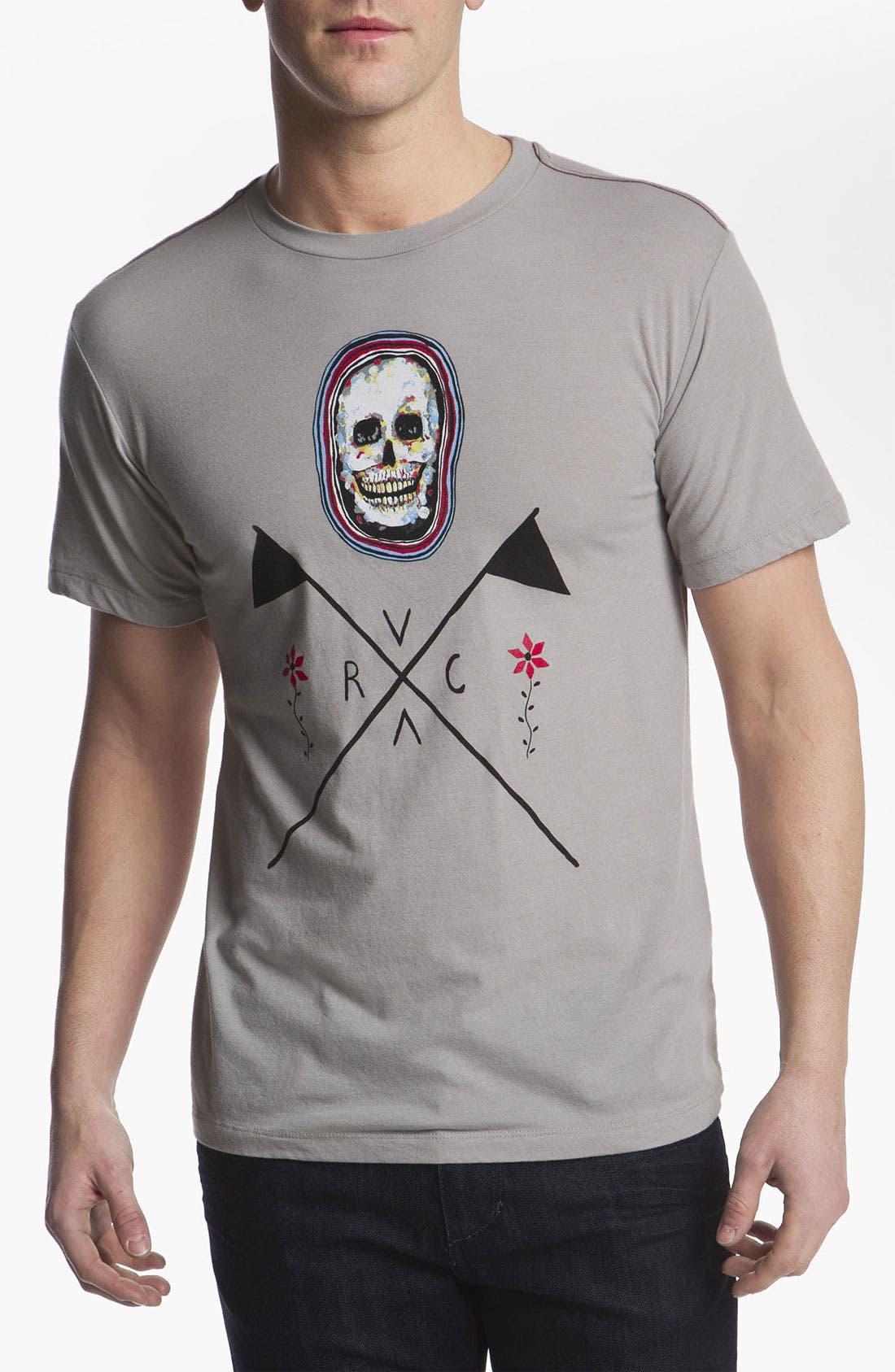 Alternate Image 1 Selected - RVCA 'Skull Flag' T-Shirt