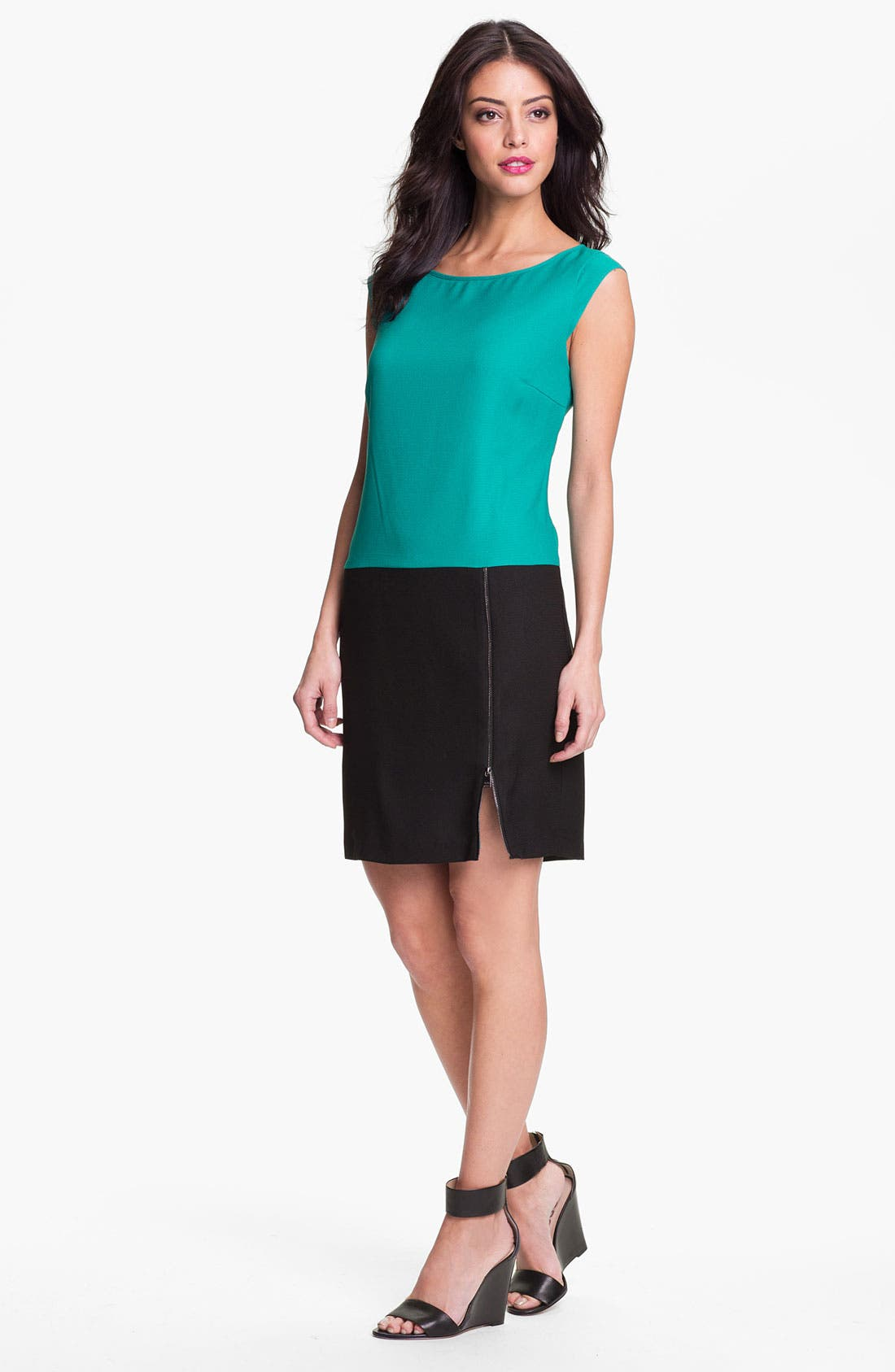 Main Image - Marc New York by Andrew Marc Colorblock Crepe Shift Dress