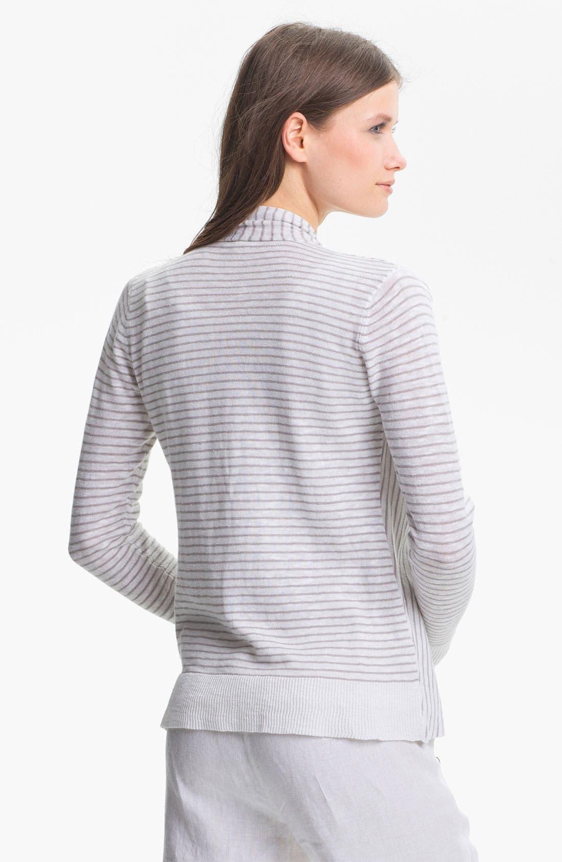 Alternate Image 2  - Eileen Fisher Linen & Cotton Cascade Cardigan