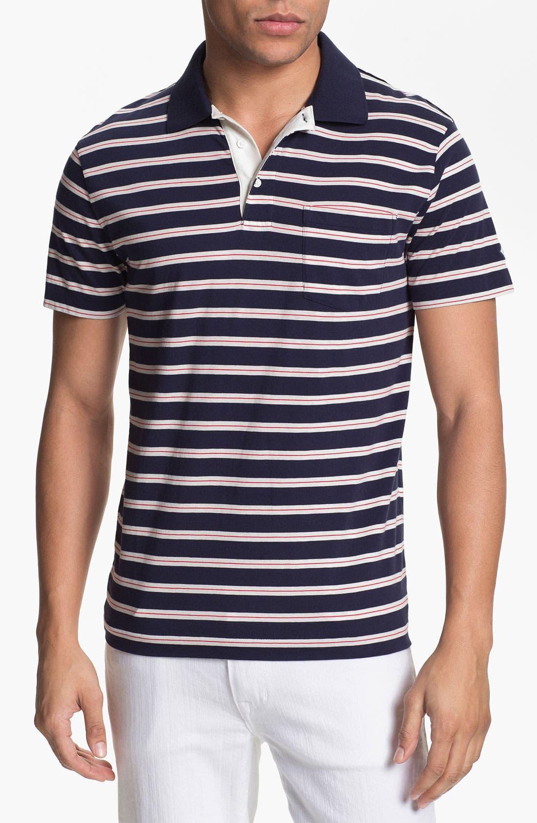 Alternate Image 1 Selected - Gant Rugger Stripe Jersey Polo