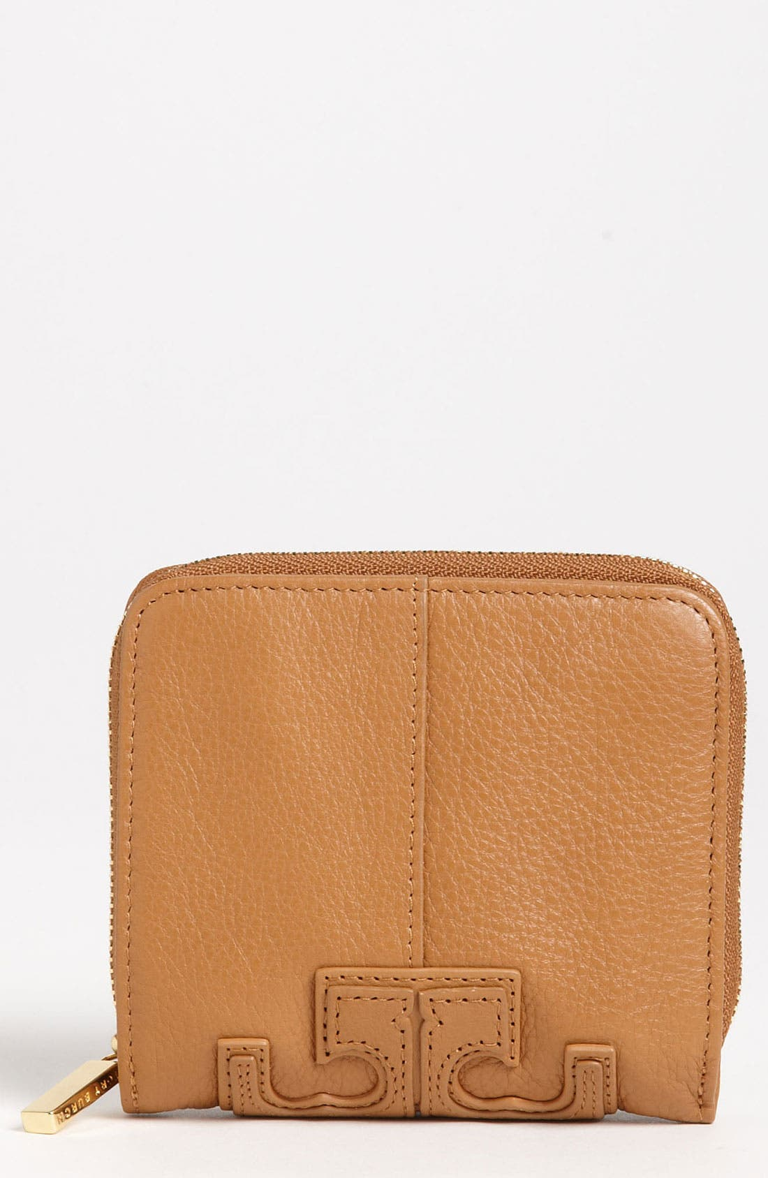 Alternate Image 1 Selected - Tory Burch 'Stacked T' Compact Wallet