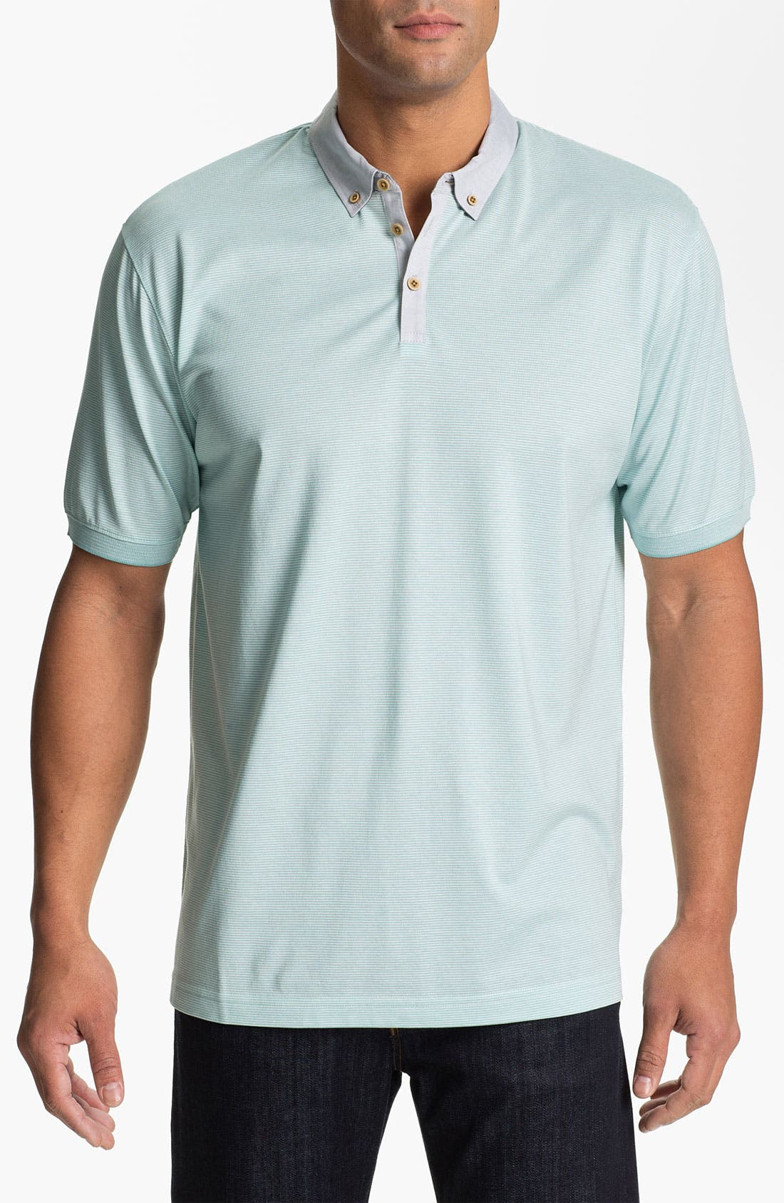 Alternate Image 1 Selected - Cutter & Buck 'Midvale' Pima Cotton Polo (Big & Tall)