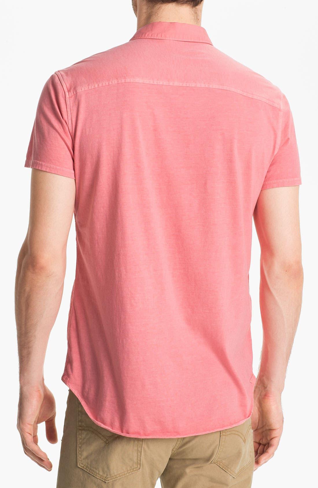 Alternate Image 2  - Edun Short Sleeve Woven Pullover Shirt