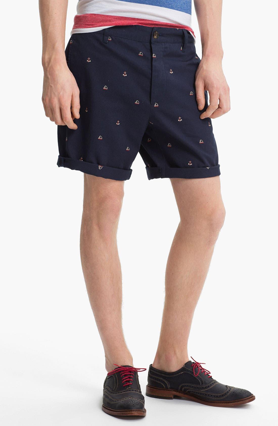 Main Image - Topman 'Anchor Boat' Shorts