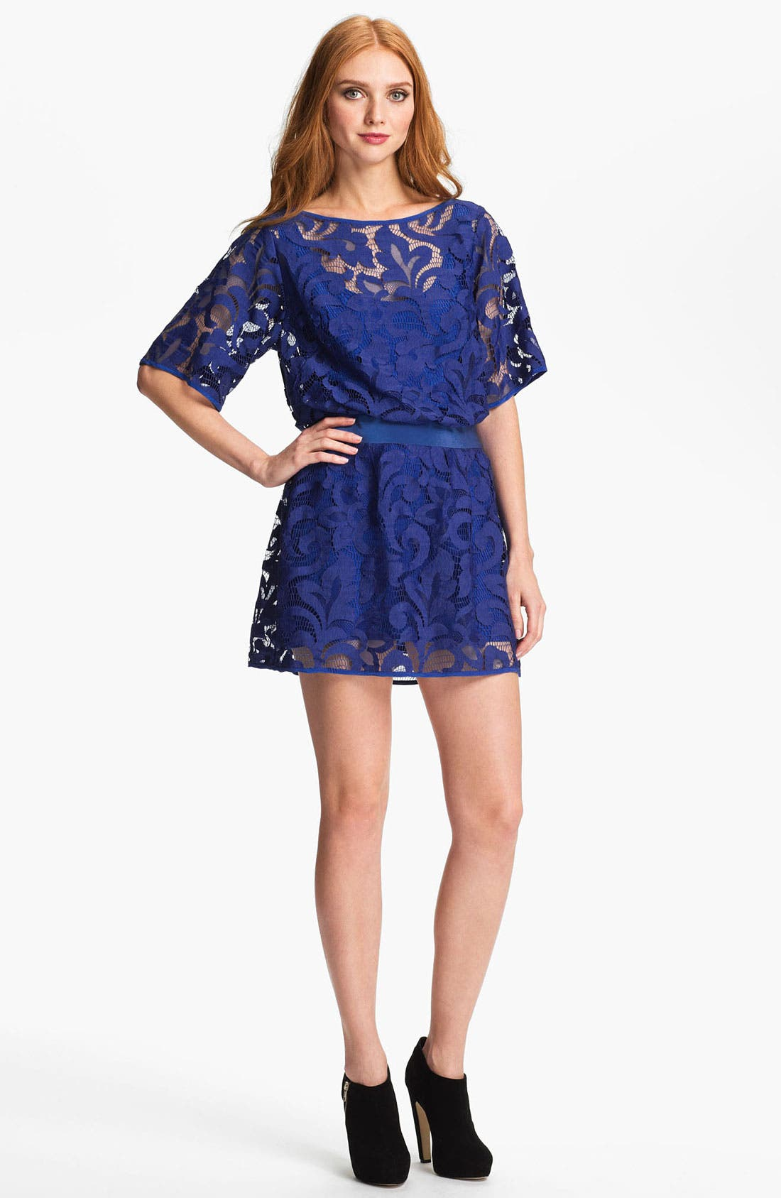Main Image - Milly Lace Blouson Minidress