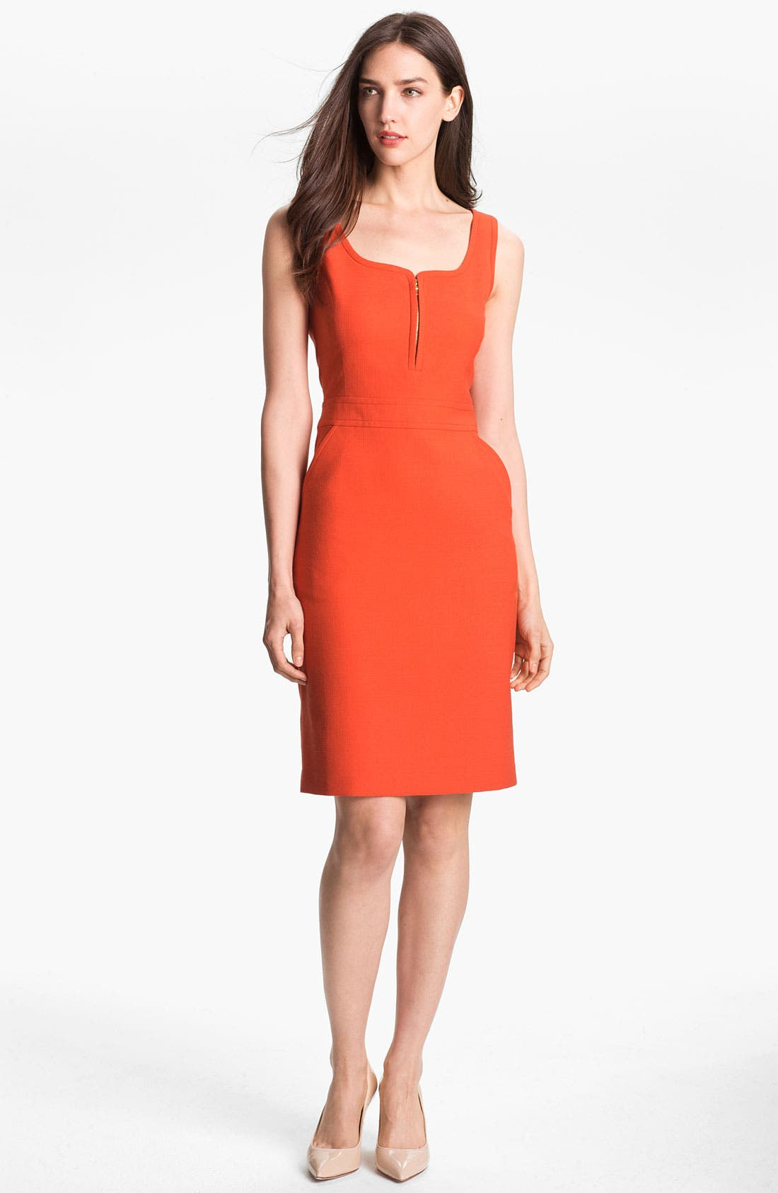 Alternate Image 1 Selected - Tory Burch 'Zachary' Wool Blend Sheath Dress