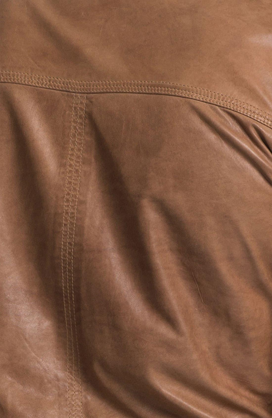 Alternate Image 3  - La Marque Lambskin Leather Biker Jacket