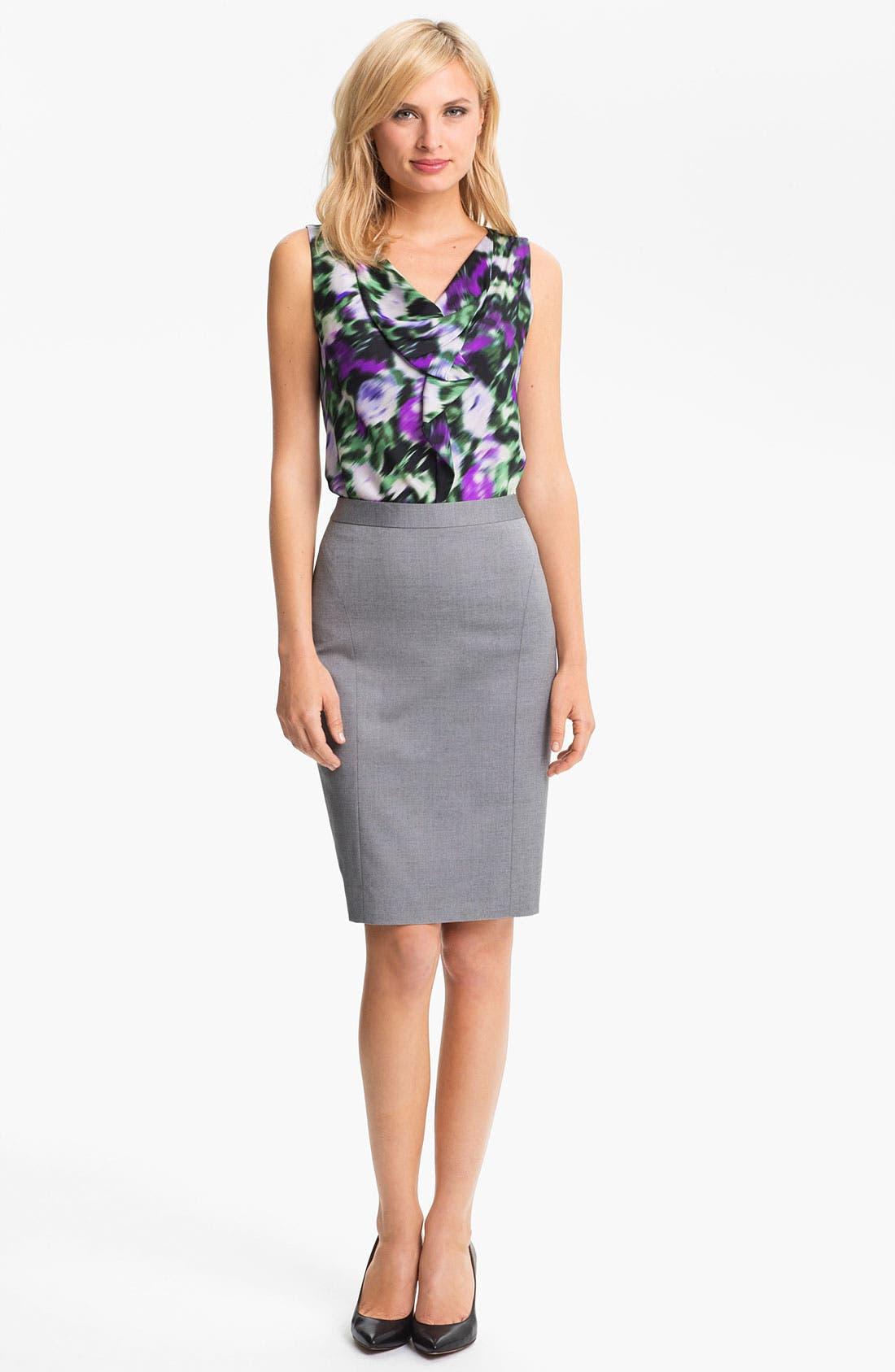 Alternate Image 4  - Classiques Entier 'Platine Weave' Skirt