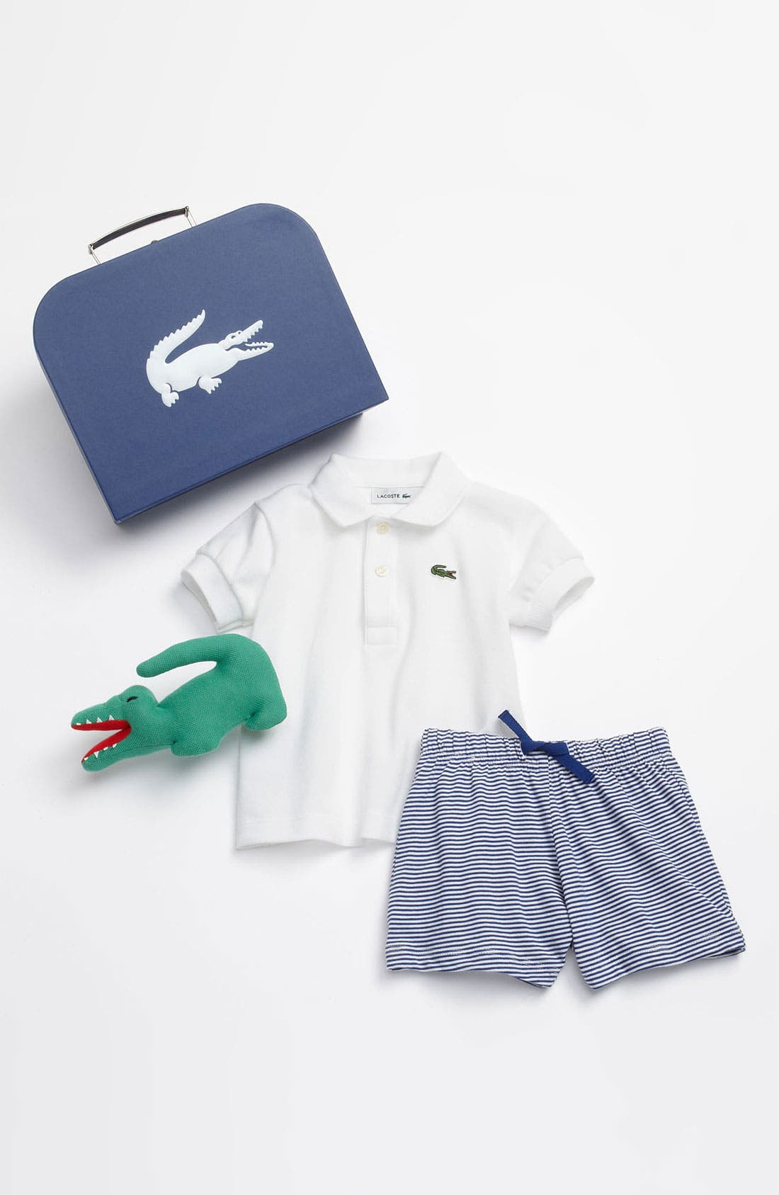 Alternate Image 1 Selected - Lacoste Polo & Shorts (Baby)