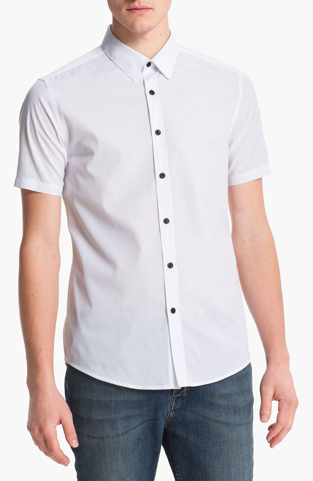Main Image - Topman 'Smart' Short Sleeve Shirt