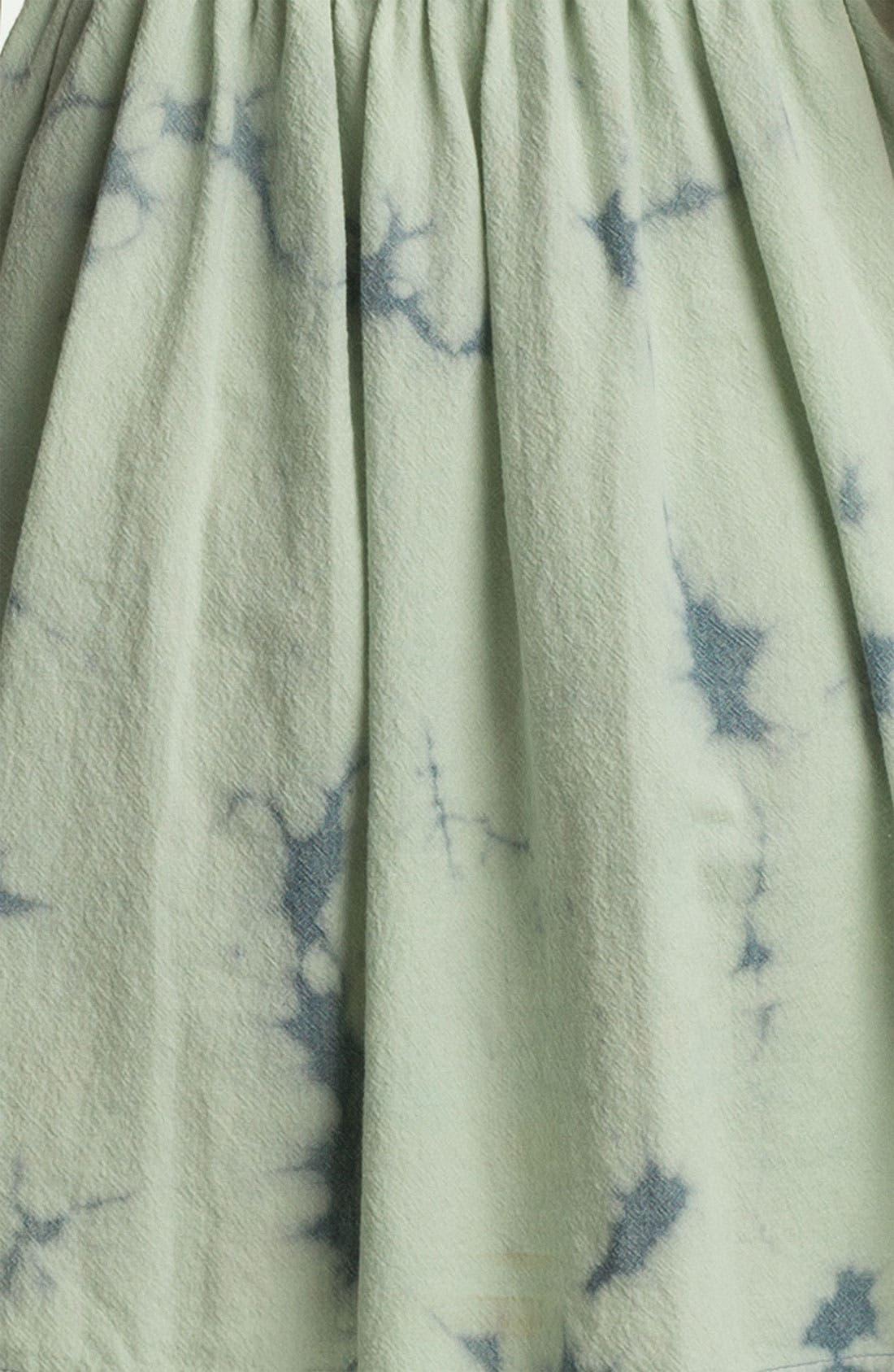 Alternate Image 3  - Fire Tie Dye Chambray Bustier Dress (Juniors)