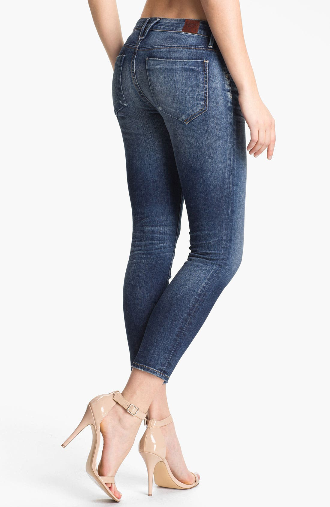 Alternate Image 2  - Goldsign 'Gracie' Crop Skinny Stretch Jeans (Glam)