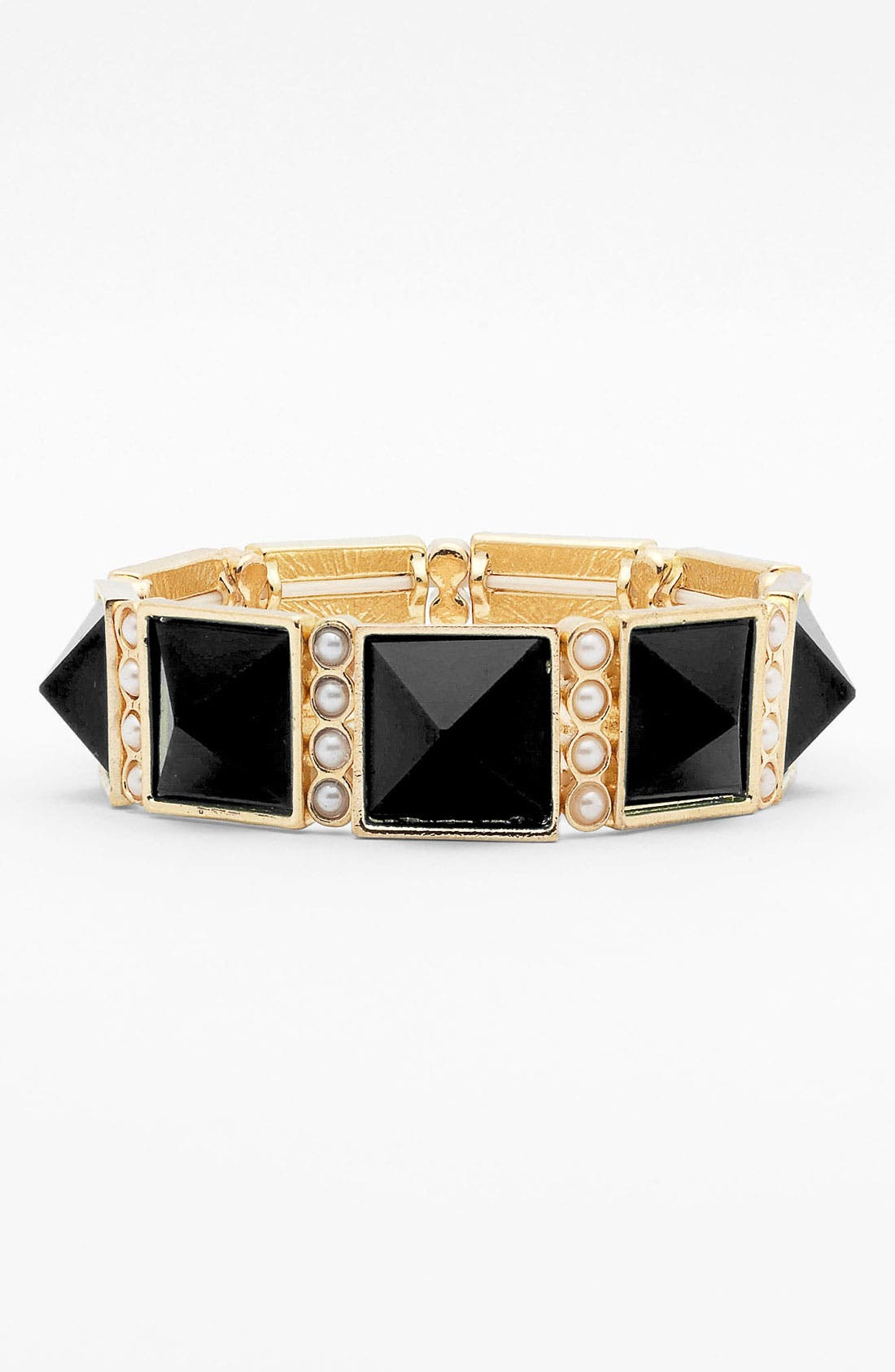 Main Image - Stephan & Co. Pyramid & Pearls Bracelet (Juniors)