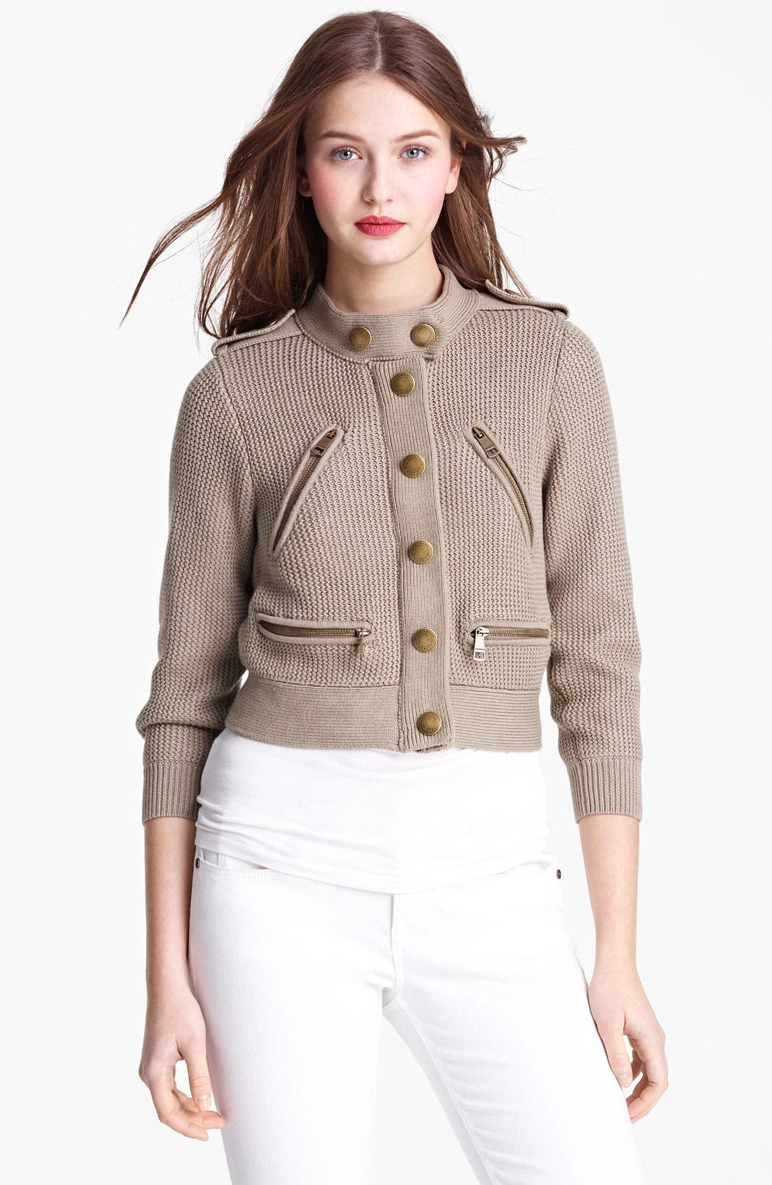 Main Image - Burberry Brit Knit Cardigan (Online Only)