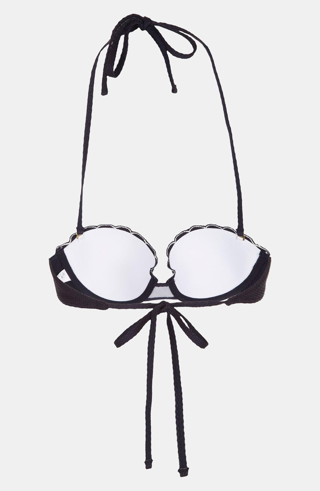 Alternate Image 2  - Topshop Scalloped Underwire Bikini Top