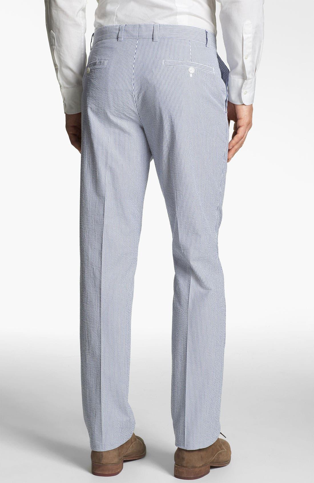 Alternate Image 2  - Brooks Brothers 'Milano' Seersucker Pants