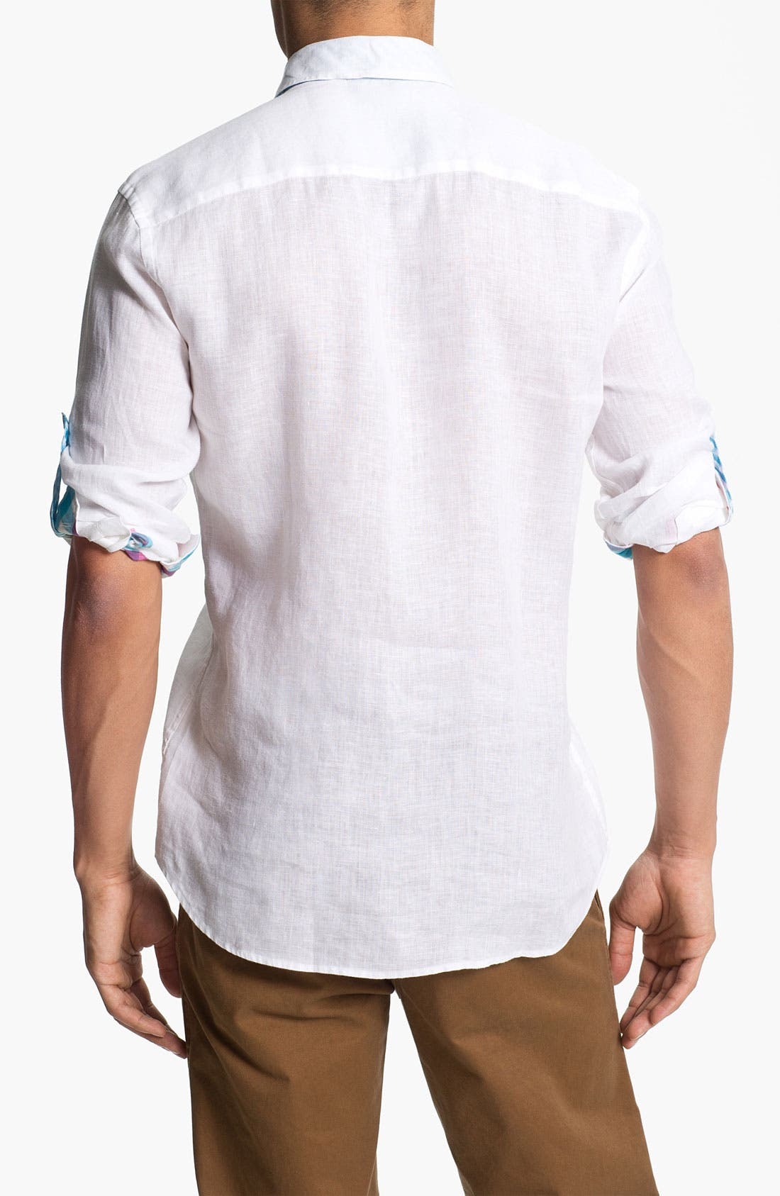 Alternate Image 2  - Stone Rose Linen Woven Shirt