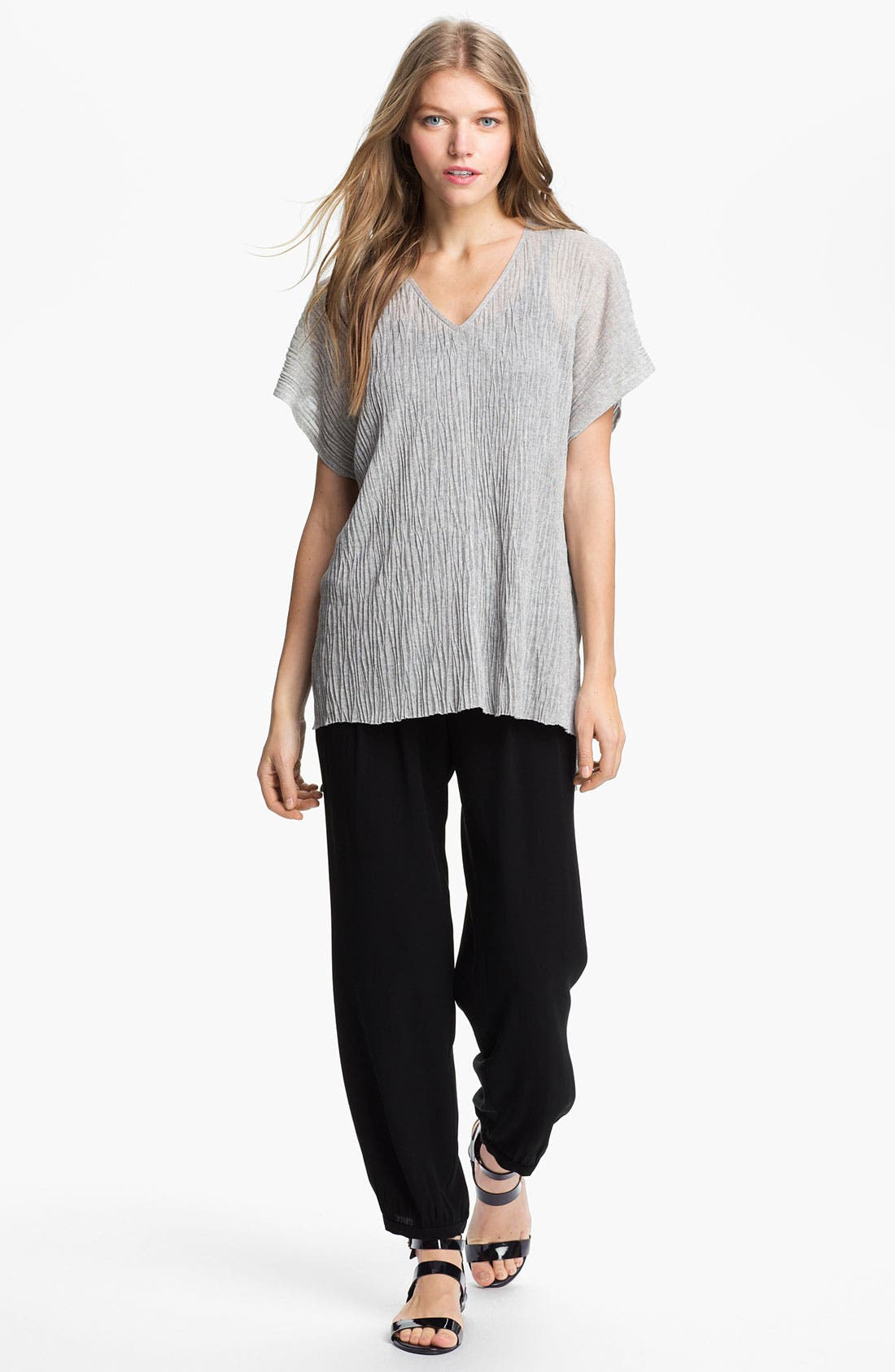 Alternate Image 4  - Eileen Fisher Boxy Crinkled V-Neck Tunic