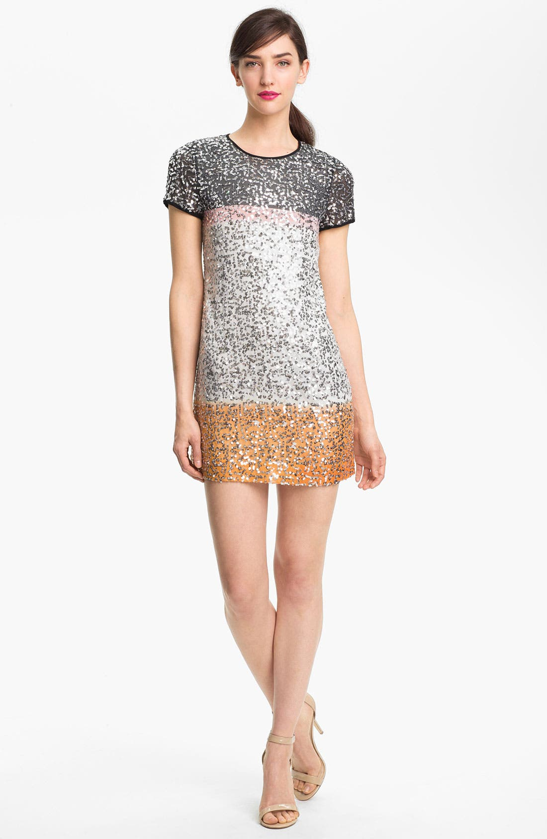 Alternate Image 1 Selected - Diane von Furstenberg 'Barbie Embel' Silk Shift Dress