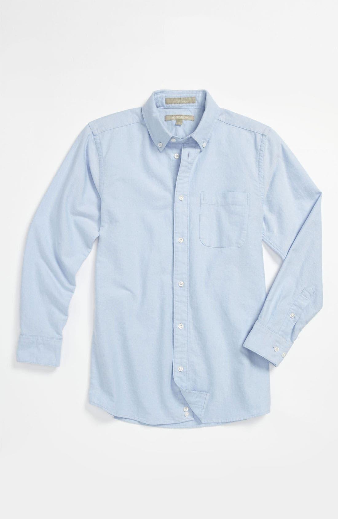 Main Image - Nordstrom 'Michael' Woven Oxford Shirt (Big Boys)