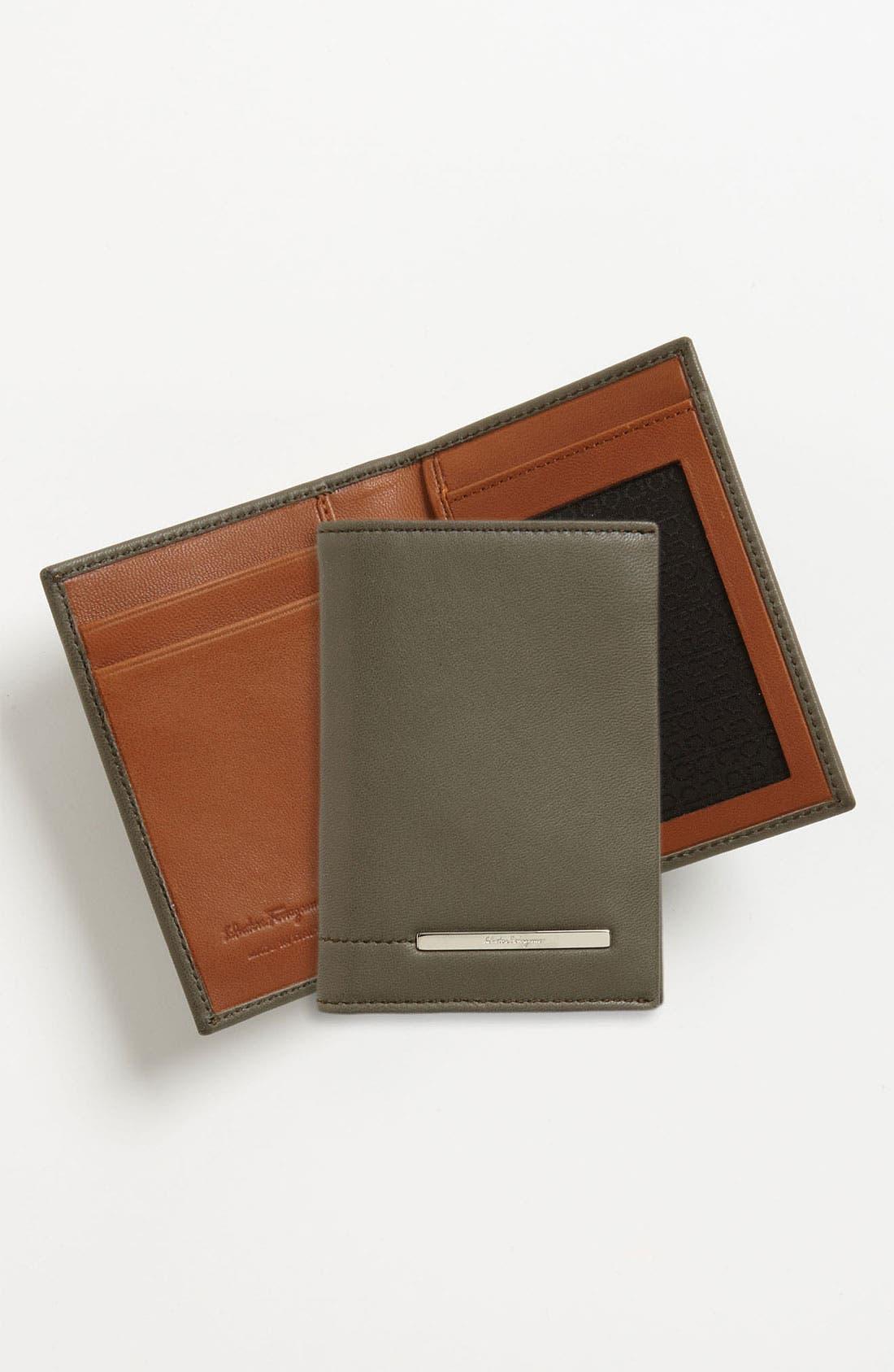 Alternate Image 1 Selected - Salvatore Ferragamo 'Giacomo' Card Case
