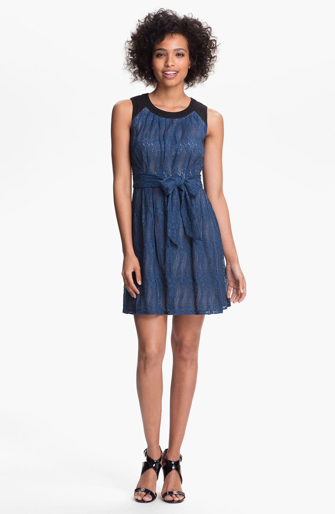 Main Image - Marc New York by Andrew Marc Lace Fit & Flare Dress
