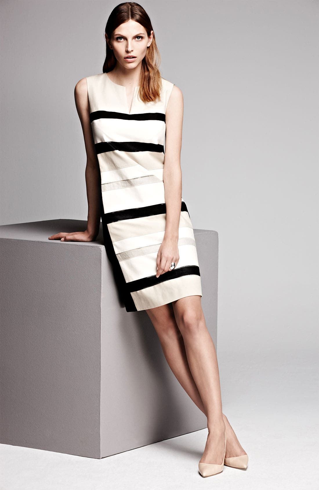 Alternate Image 6  - Lafayette 148 New York 'Noel - Metropolitan Stretch' Dress (Online Only)