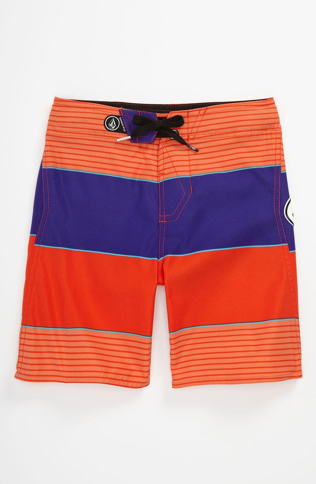 Alternate Image 1 Selected - Volcom 'Maguro' Stripe Board Shorts (Big Boys)
