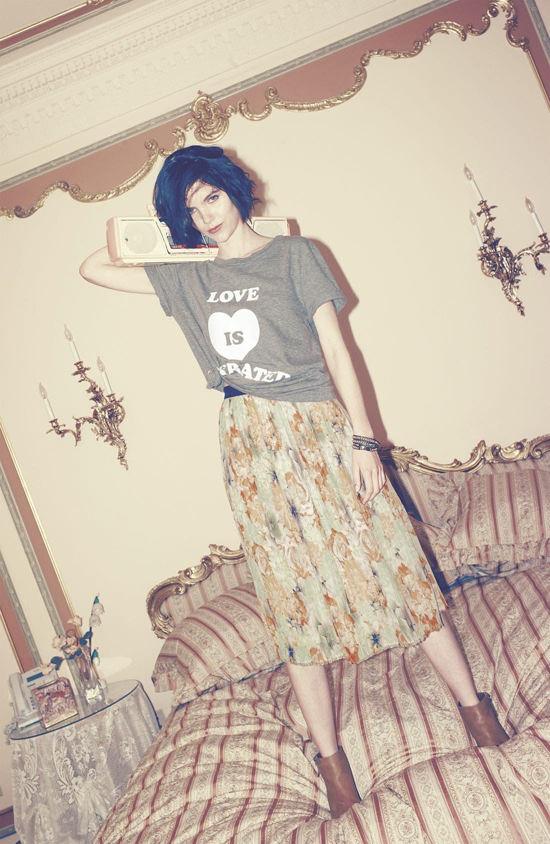Alternate Image 3  - Like Mynded Midi Floral Skirt