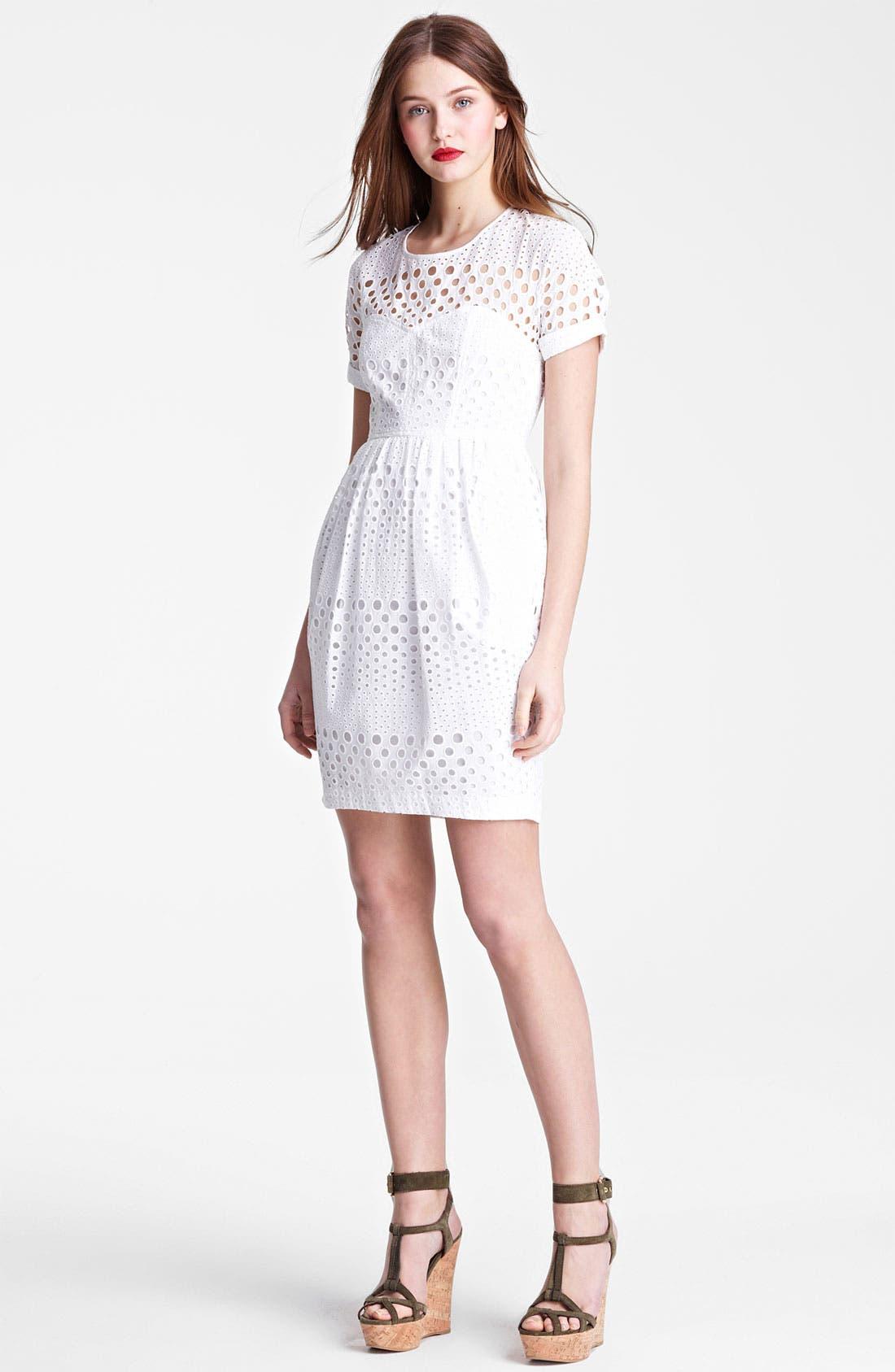 Main Image - Burberry Brit 'Darcelle' Eyelet Dress