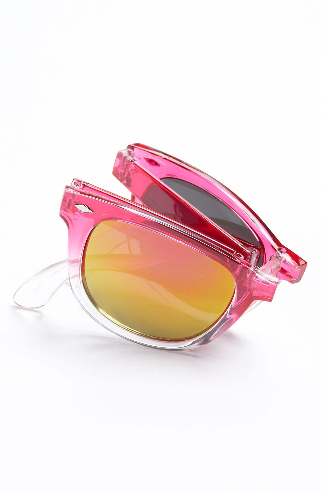 Alternate Image 2  - Icon Eyewear Foldable Sunglasses (Girls)