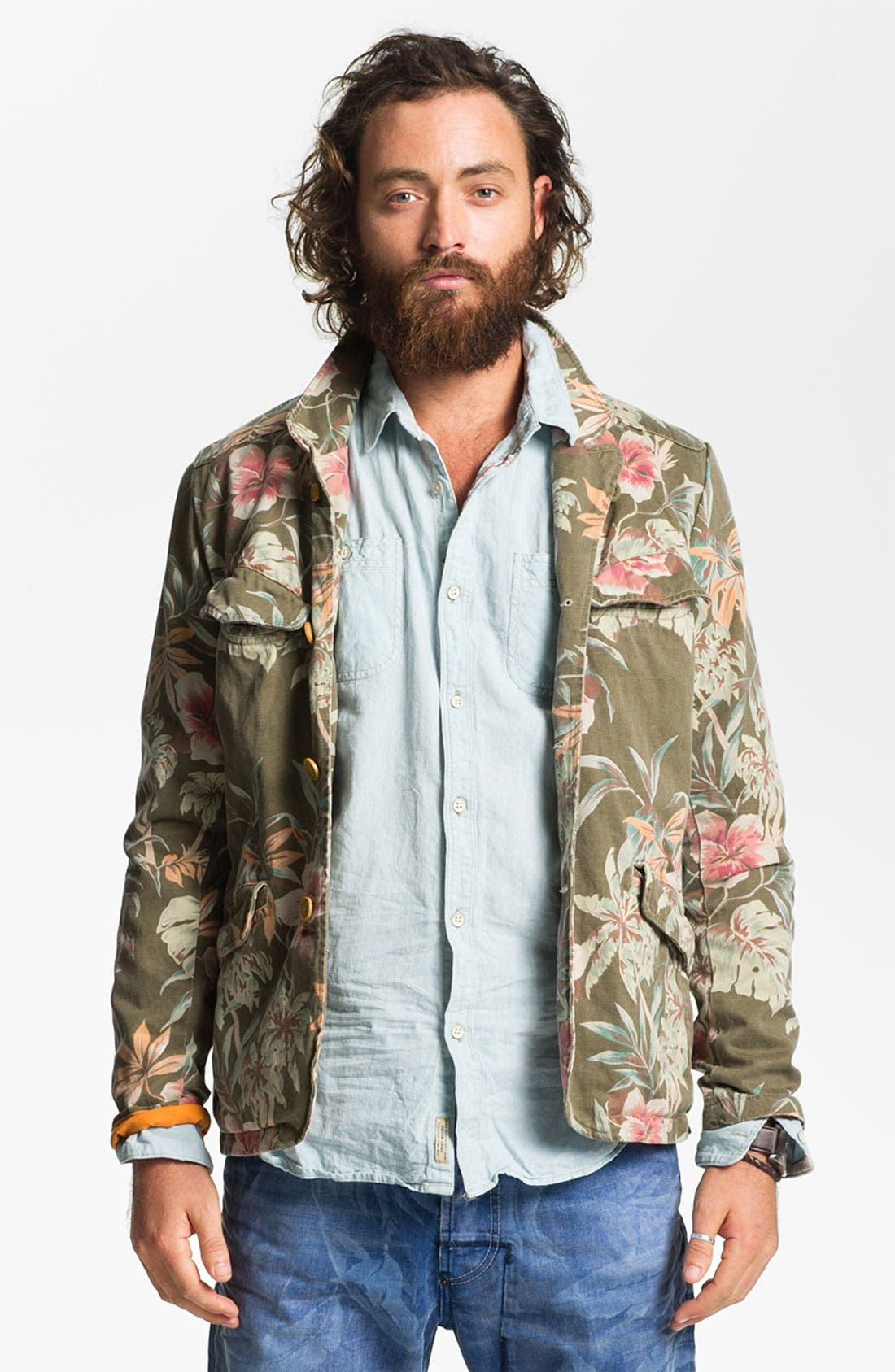 Alternate Image 1 Selected - Scotch & Soda Floral Print Jacket