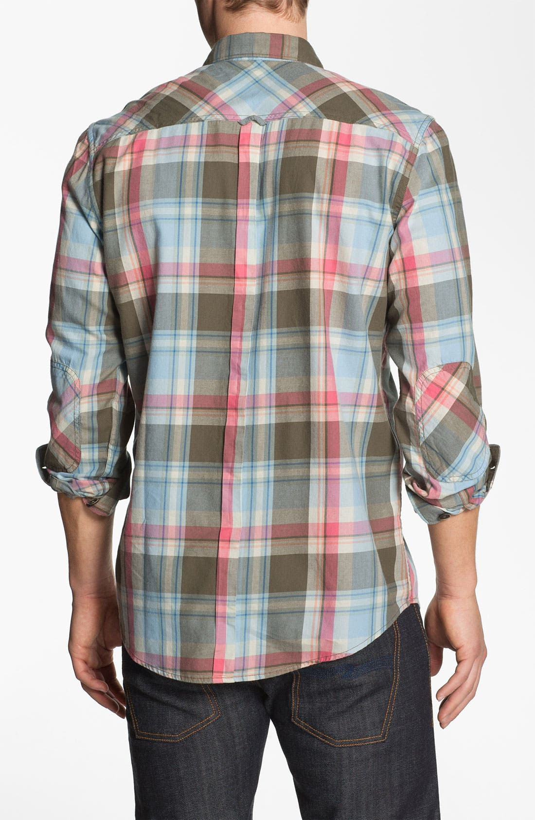 Alternate Image 3  - Ben Sherman Washed Plaid Woven Shirt