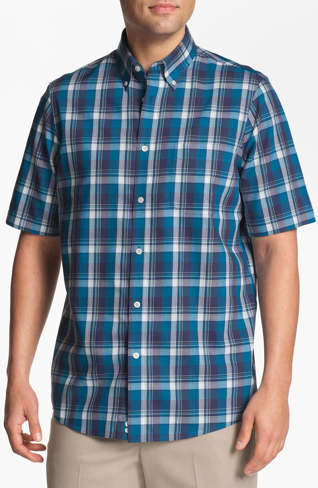 Alternate Image 1 Selected - Nordstrom Smartcare™ Regular Fit Short Sleeve Sport Shirt