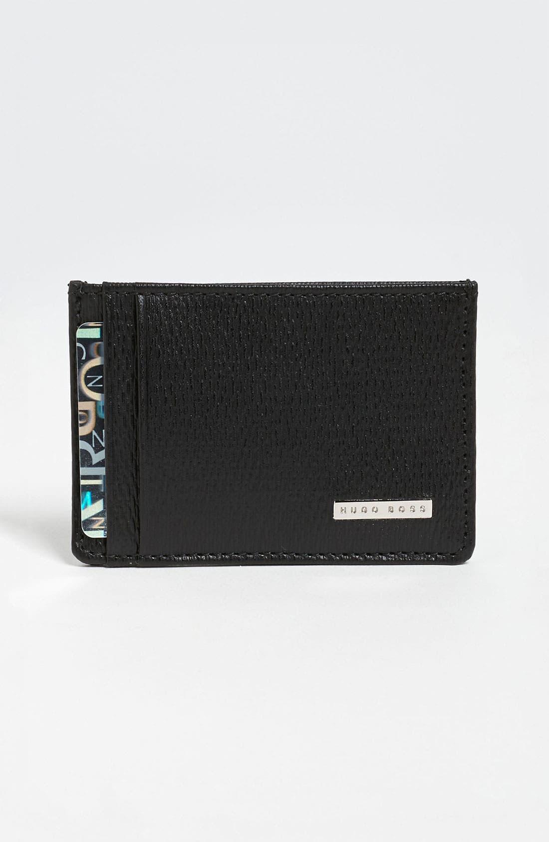 Alternate Image 1 Selected - BOSS Black 'Luber' Card Case