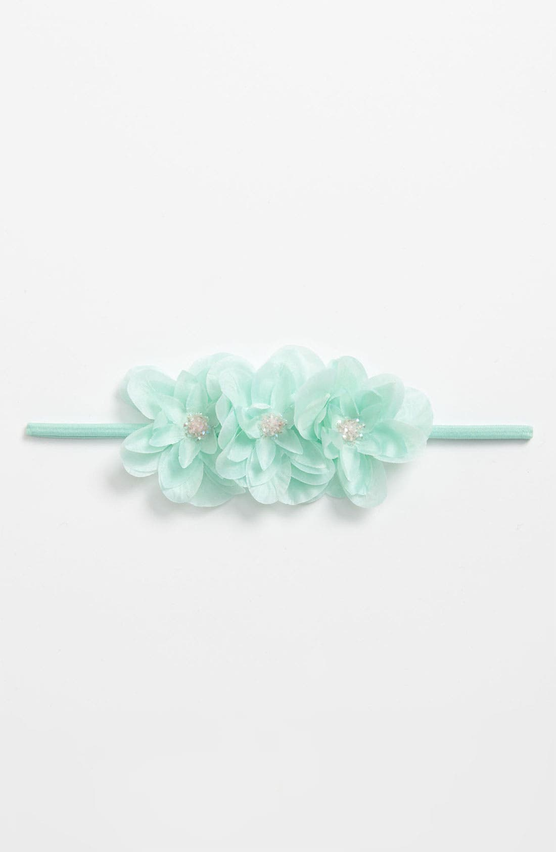 Alternate Image 2  - PLH Bows & Laces Floral Headband (Baby Girls & Toddler Girls)