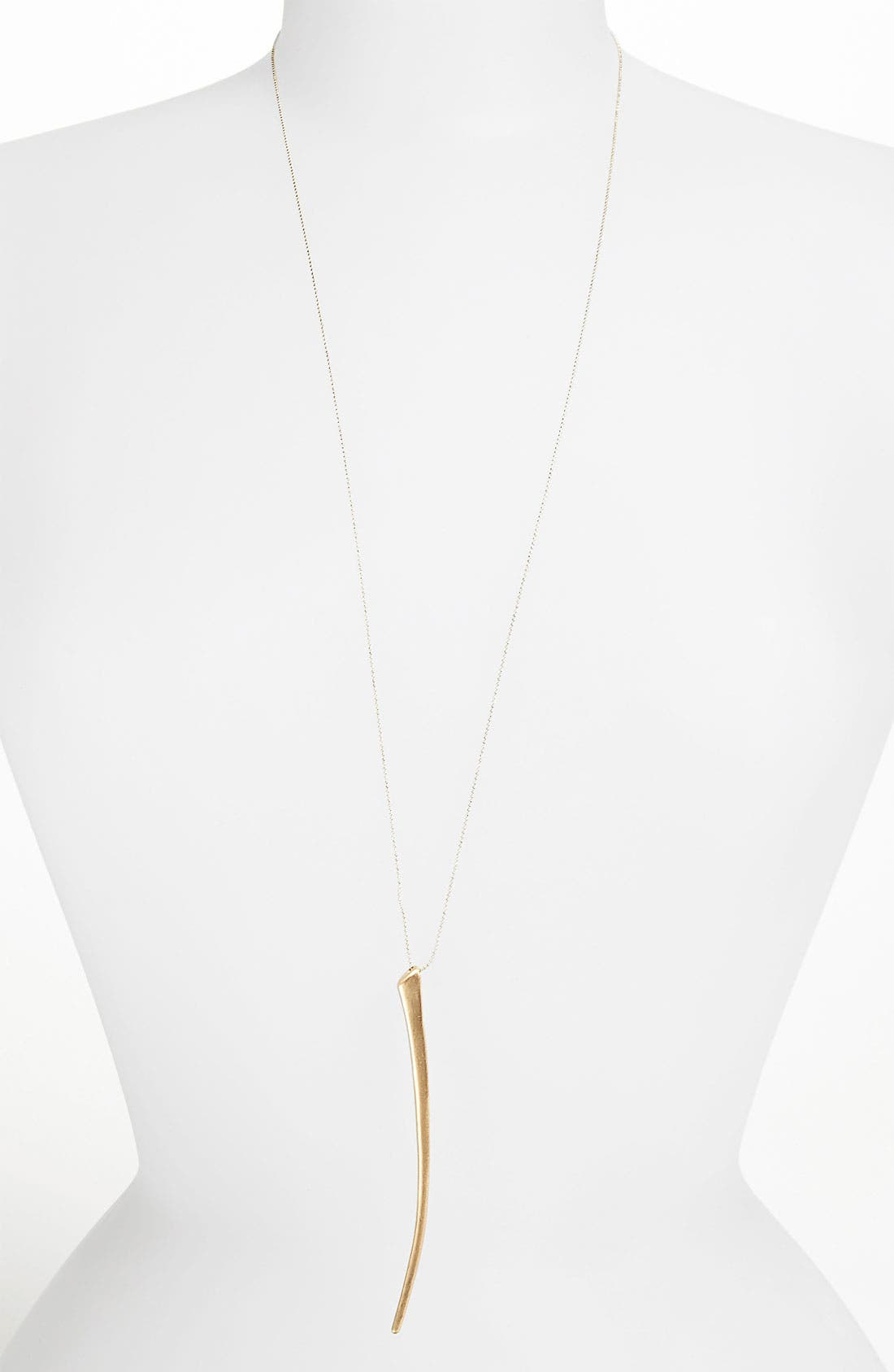 Alternate Image 1 Selected - Topshop 'Thin Tusk' Pendant Necklace