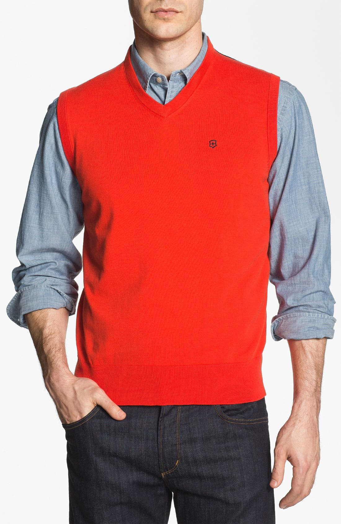 Alternate Image 1 Selected - Victorinox Swiss Army® 'Suisse' Tailored Fit Sweater Vest (Online Only)